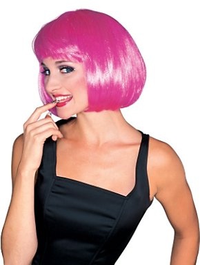 Women's Hot Pink Super Model Wig