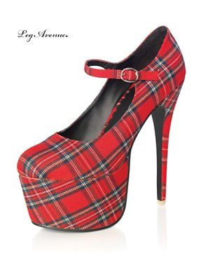 Plaid School Girl Stiletto Mary Janes