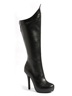Adult 5 1/2 inch Knee High Black Boot