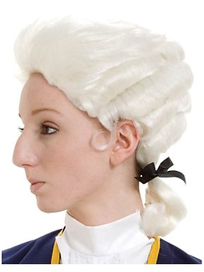 White Deluxe Colonial Boy Wig Child