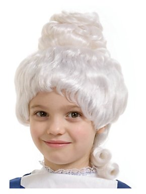 White Colonial Girl Wig Child