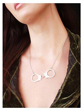 Rhinestone Handcuff Necklace