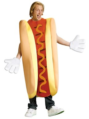 Unisex Adult Hot Dog Costume