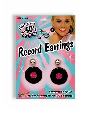 Record Earrings