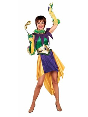 Mardi Gras Miss Costume for Adult