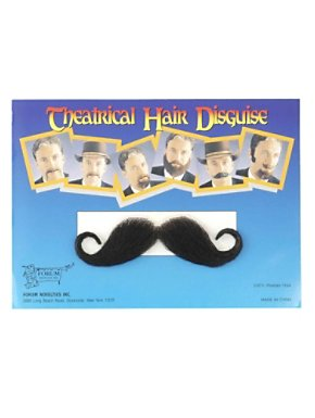 Handlebar Moustache Black