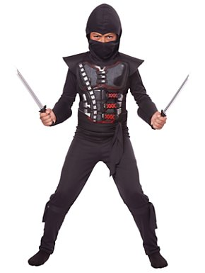 Child Stealth Ninja Battle Armor Kit