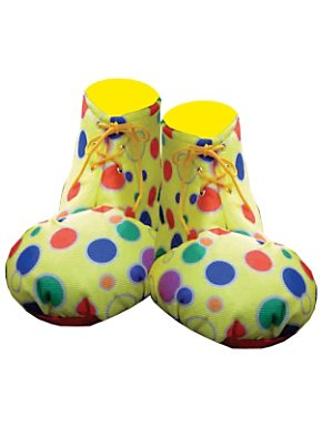 Unisex Adult Polka dot Yellow Clown Shoe Covers