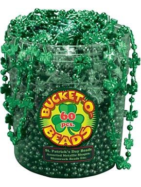 St. Patrick's Day 60 Piece Bucket O'beads