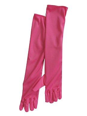 20s Hot Pink Flapper Gloves