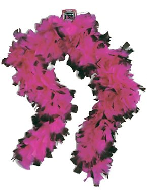 20s Pink and Black Boa