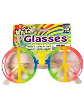 Rainbow Peace Sign Glasses