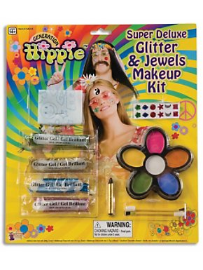 Super Deluxe Glitter and Jewels Hippie Makeup Kit