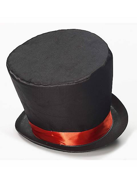 Black Mad Hatter Top Hat $13.99 AT vintagedancer.com