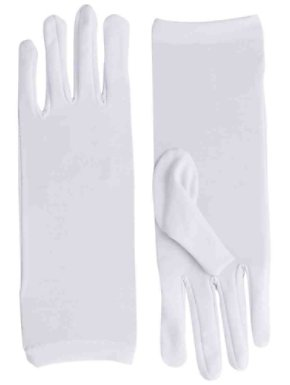 Short White Dress Gloves