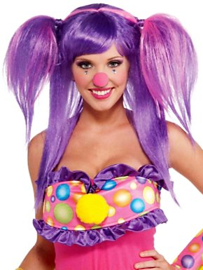 Adult Circus Sweetie Berry Bubbles Wig