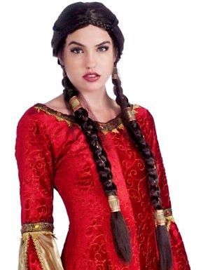 Adult Medieval Maiden Renaissance Wig