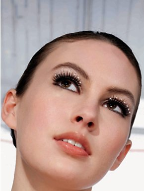 Vintage Hollywood Pearl Beads Eye Lashes