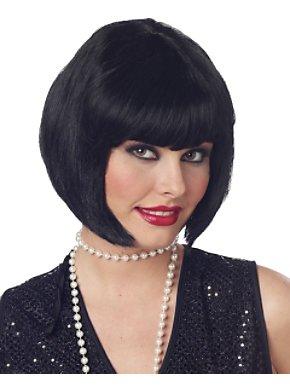 Flapper Wig Black Adult