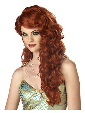 Mermaid Auburn Wig Adult