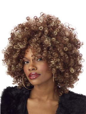 Adult Fine Foxy Brown & Blonde Fro Wig