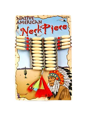Native American Necklace with Feathers