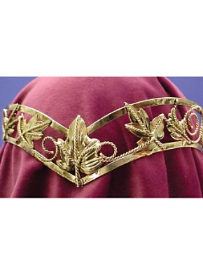 Deluxe Gold Leaf Headpiece