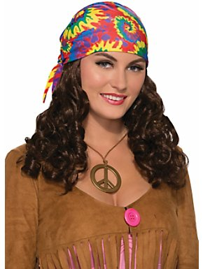 Women's Hippie Wig with Headscarf