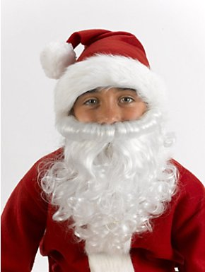 Child Santa Claus Beard