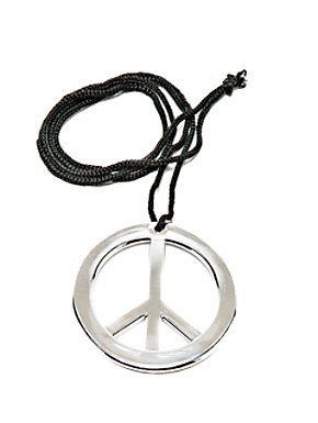 Jumbo Metal Peace Necklace