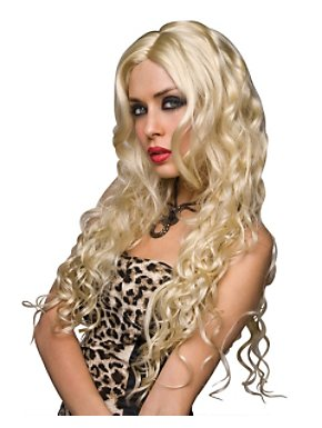 Deluxe Jennifer Platinum Blonde Wig Adult