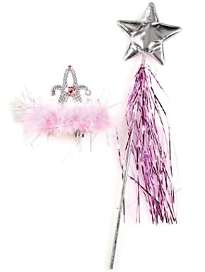 Silver Star Wand and Tiara