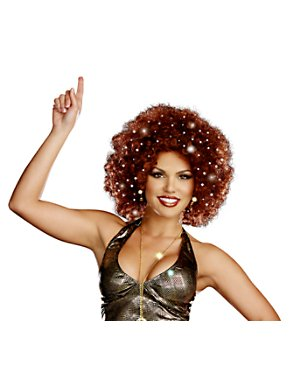 Adult Sexy Light-Up Afro Wig
