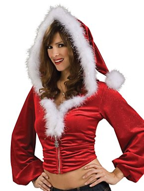Sexy Red Christmas Hoodie Adult