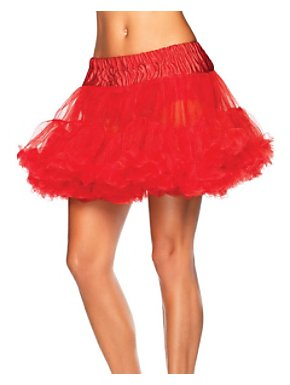Plus Size Women's Layered Tulle Petticoat - Red