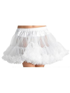 White Tulle Layered Petticoat Adult Plus