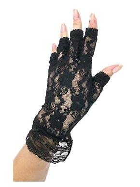 Black Fingerless Lace Glove