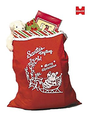 Red Santa Toy Bag