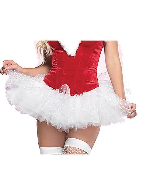Adult White Polka Dot Tulle Tutu