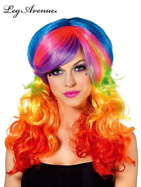 Rainbow Rocker Multi Color Wig