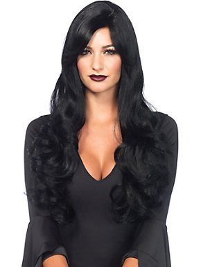 Women's Sexy Long Black Wavy Wig