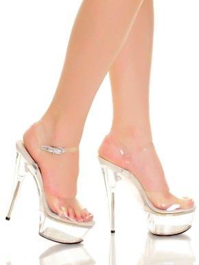 Adult Clear Glass Slipper Platform Sandal