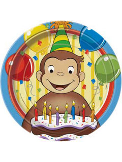 Curious George party plates