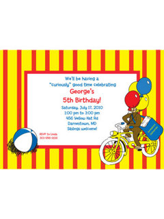 Personalized monkey party invitations