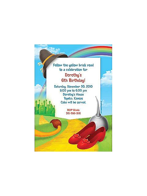 ruby slippers invitations