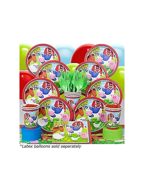 Farm Animals Party Deluxe kit Serves 8 Guests