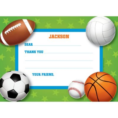 Sports Thank You Note