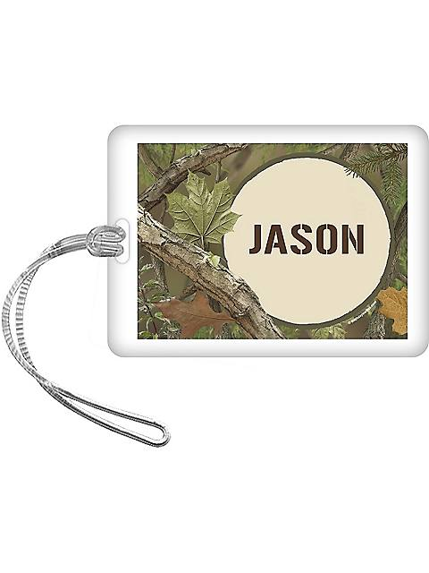 Camo Personalized Bag Tag (each)