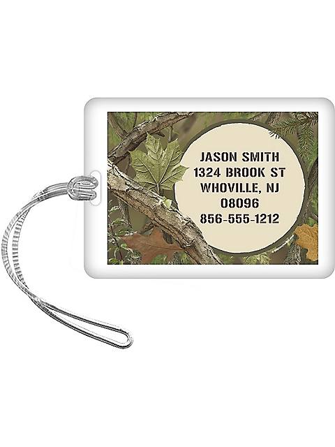 Camo Personalized Luggage Tag (each)