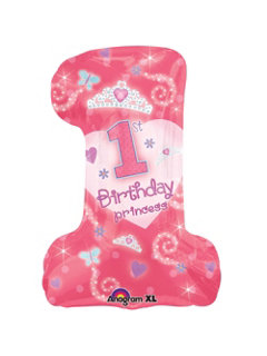 First Birthday Princess #1 Balloon